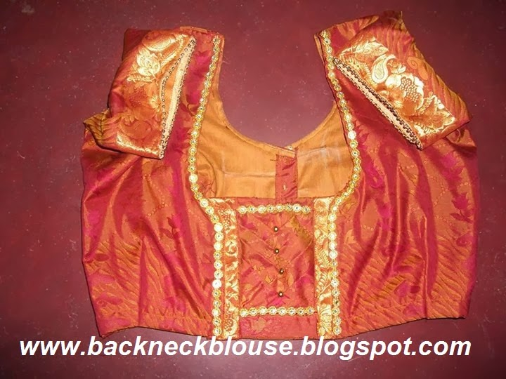 Silk Saree Blouse Designs Catalogue Silk Saree Blouse Designs Back