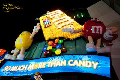 Las Vegas Nevada, M&M candy statues, New Braunfels photographer