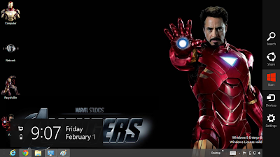 IRON MAN 3 Theme For Windows 8