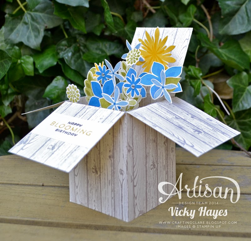 How to make a faux wooden box using Hardwood by Stampin' Up