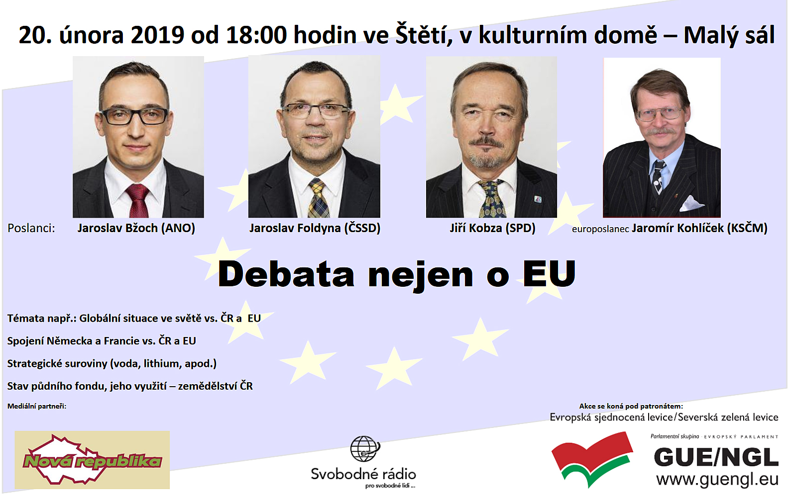 Debata 20. 2. 2019 od 18.00