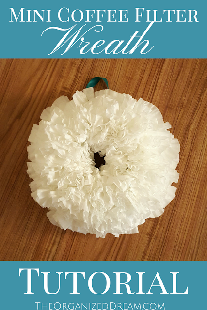 DIY Mini Coffee Filter Wreath Tutorial from The Organized Dream