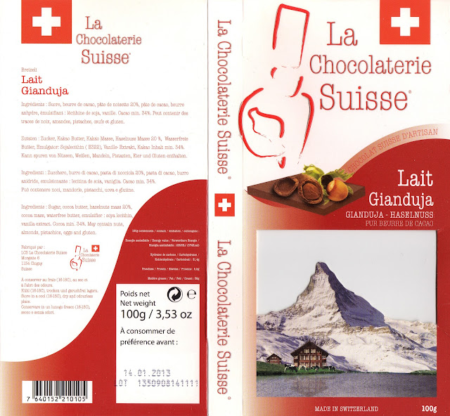 tablette de chocolat lait gourmand la chocolaterie suisse lait gianduja