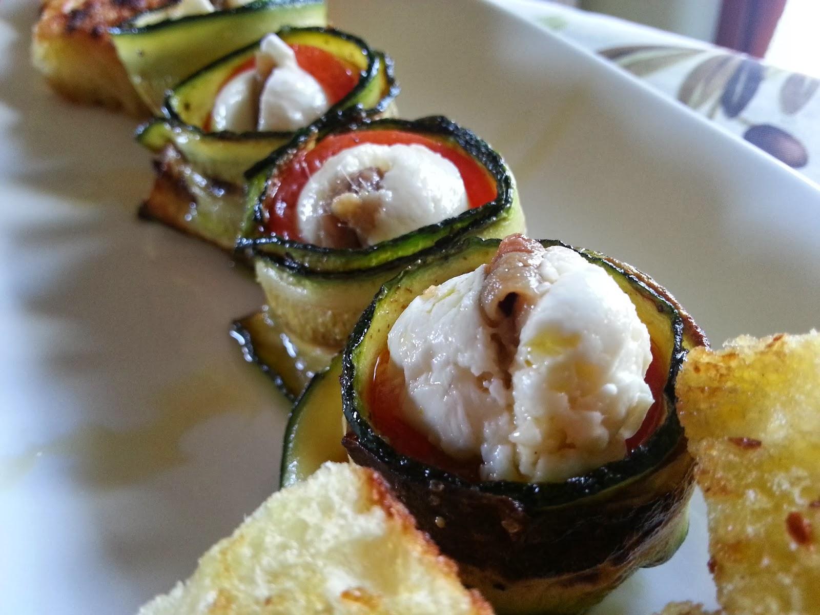 antipasto di zucchine - un antipasto con i fiocchi