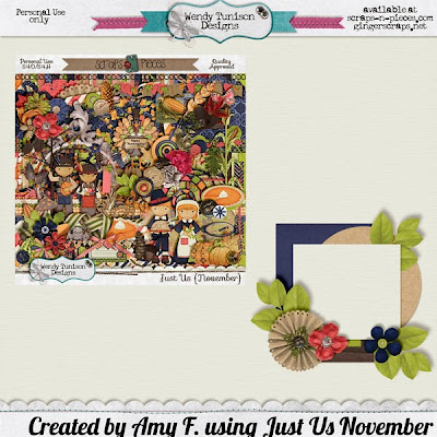 Just Us November by Wendy Tunison Designs and a Freebie