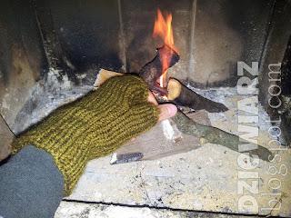 Zielone rękawiczki bez palców