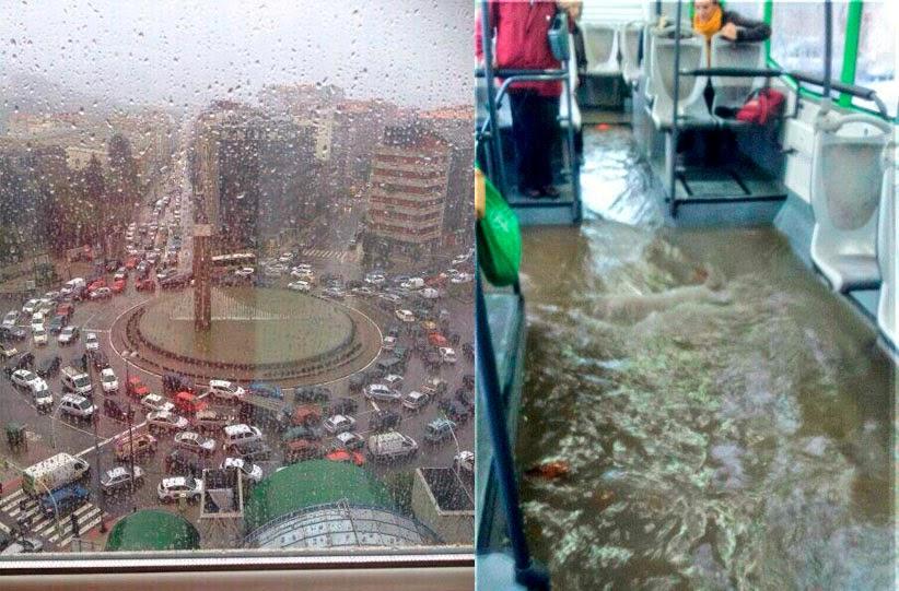 Diluvio en Vigo, octubre de 2014.