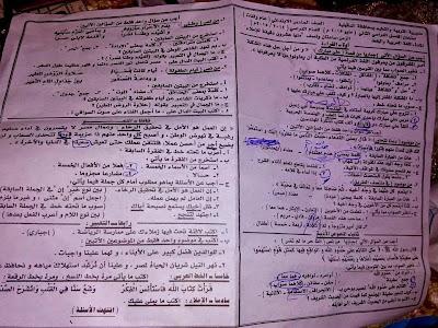 تجميع امتحانات اللغة العربية سادس ابتدائي ترم ثاني 2015 لجميع الادارات التعليمية في جميع محافظات مصر - صفحة 2 11018620_1103509626357655_2799791952011796796_n