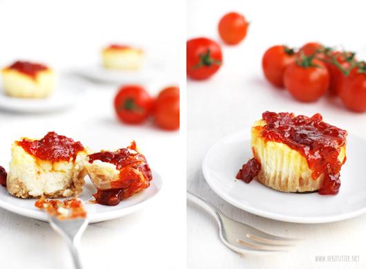 Cheesecake mit Tomatenmarmelade