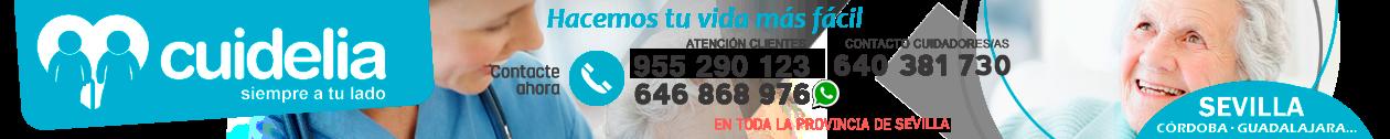CUIDELIA · 954 32 45 75 · Cuidado de mayores en Sevilla