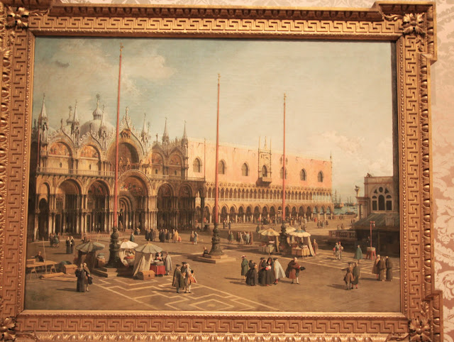 Entrance to the Grand Canal from Molo, Venice by CANALETTO at National Gallery of Art in Washington DC, USA