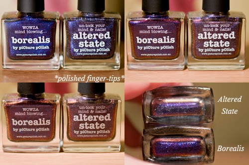 Borealis and Altered State by Picture Polish - artificial light