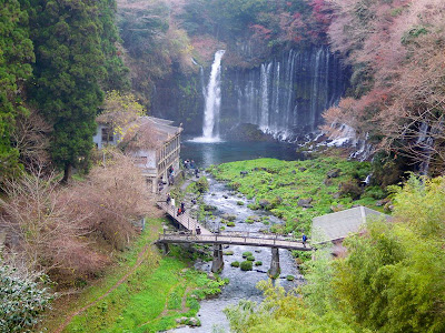 Shiraito waterfalls Fujinomiya Mount Fuji Japan