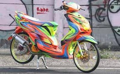 Gambar modifikasi Yamaha Mio Unik
