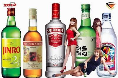 las marca con alcohol mas vendidas