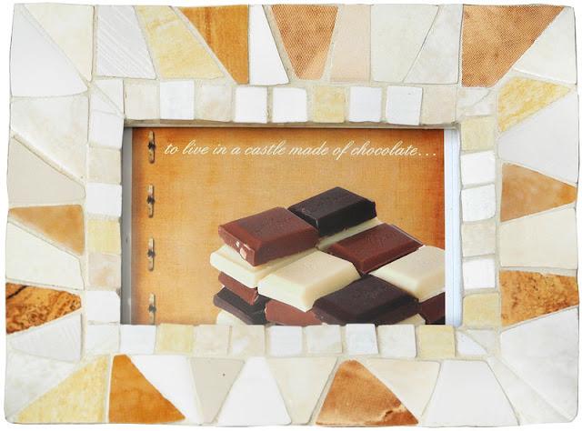 Ramka Czekoladowa - mozaika artystyczna