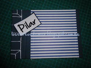 Libreta en cartonaje con cosido japonés y etiqueta