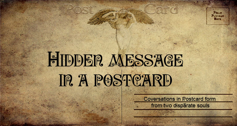 Hidden Message in a Postcard