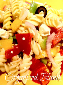 Organized Island: Easy Pasta Salad