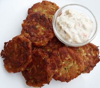 faux crab cakes-made with zucchini