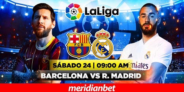 ¡VIVE EL BARCELONA - REAL MADRID EN MERIDIANBET!