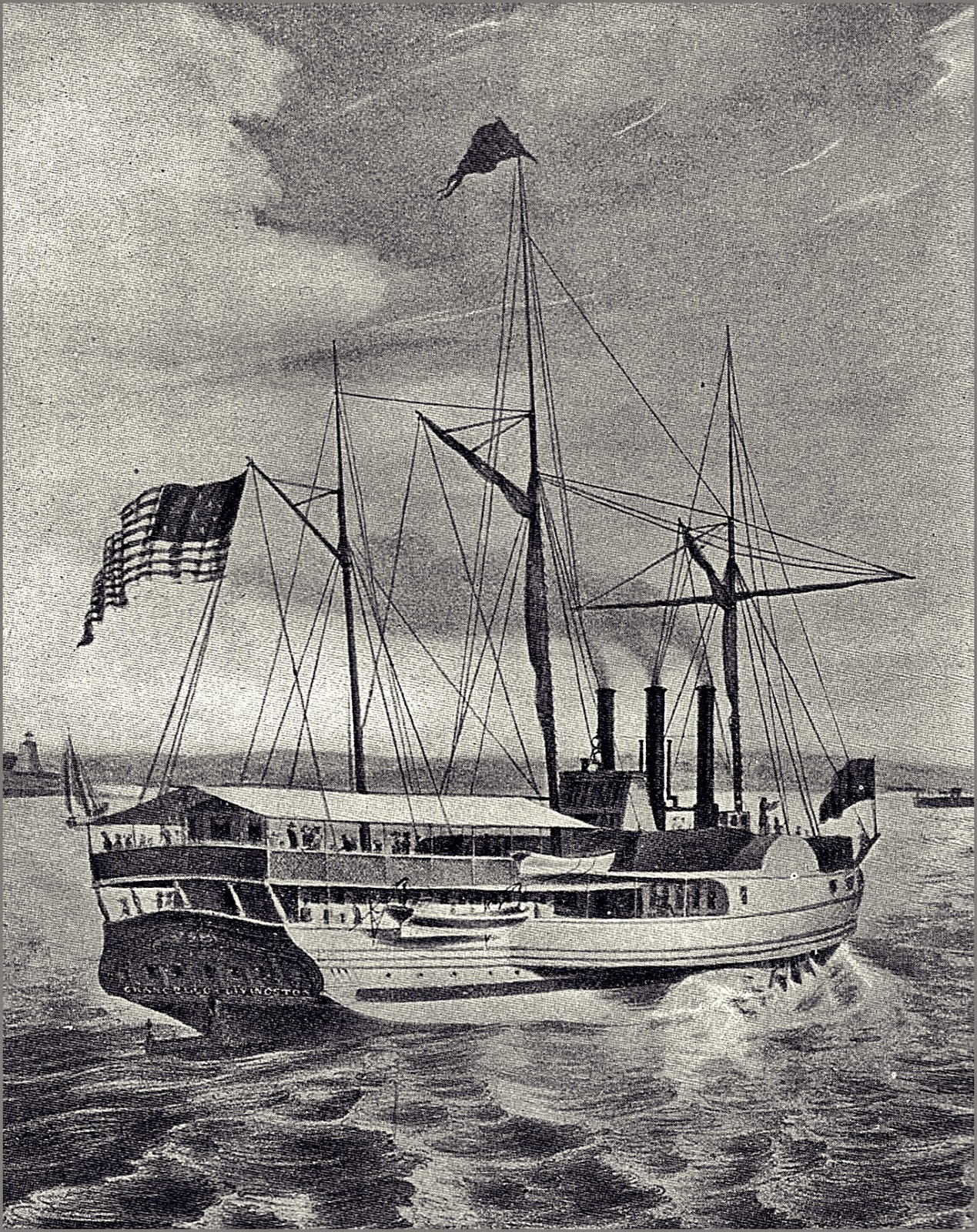 Steam Packet Chancellor Livingston 1817