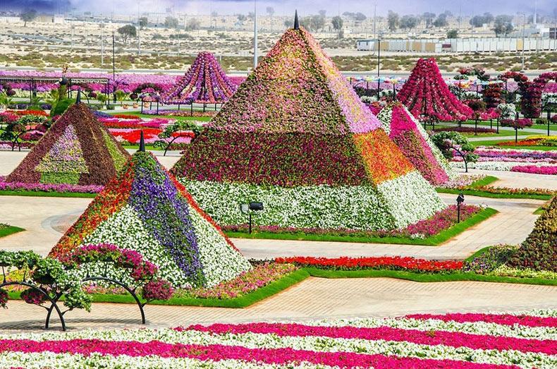 El Jardín Milagroso de Dubai que fue construido esencialmente sobre un desierto