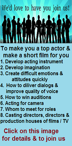 Master your acting craft, empower yourself and enjoy the journey!