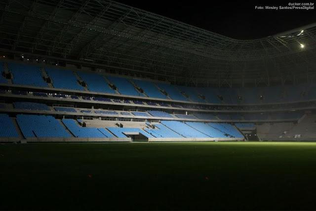 Grêmio Arena perto da inauguração