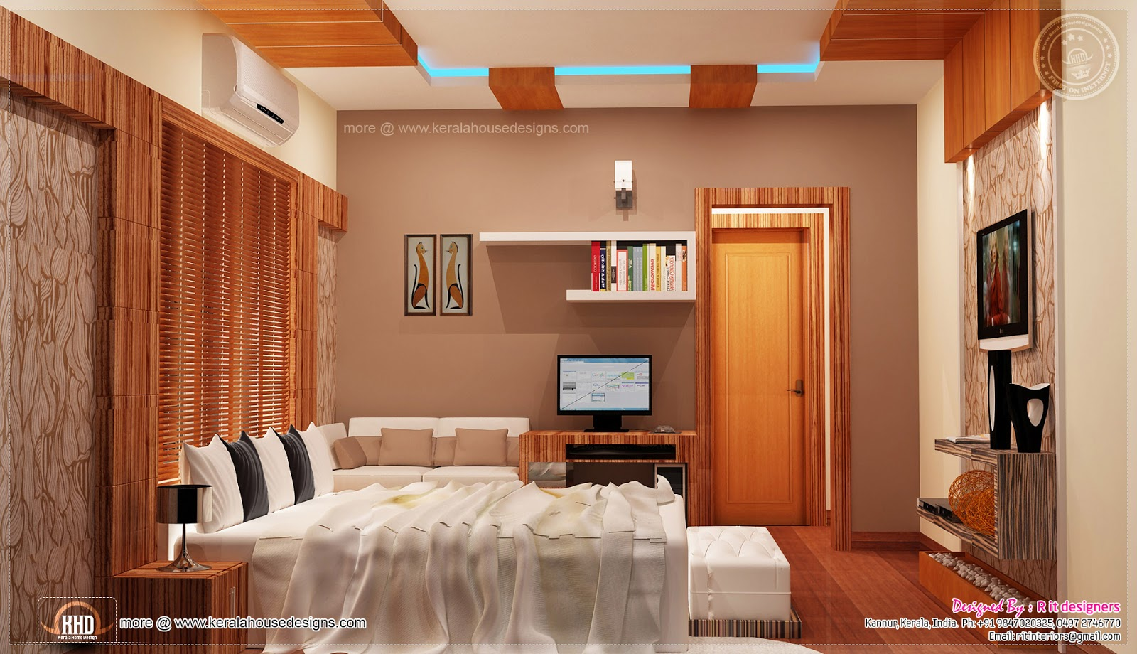 Home interior designs by rit designers kerala home for Bedroom designs tamilnadu