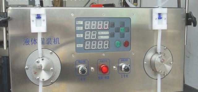 semi automatic 2heads liquid filling machine with filling sensor Machine de remplissage de liquide