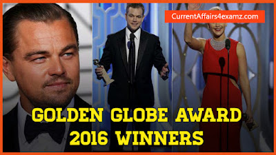 Golden Globe Awards 2016 Winners List