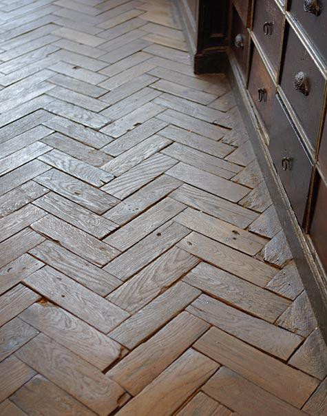 Pallet Pieces Cut And Placed In A Herringbone Pattern Photo From A