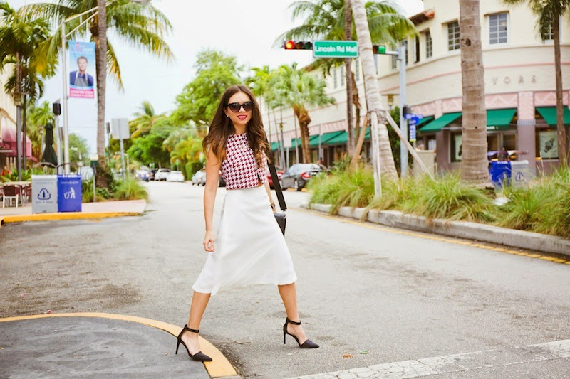 miami fashion blogger, fashion blogger, nany's klozet, daniela ramirez, midi skirt, crop top, how to wear, fashion trends, fashion blogger, lincoln road