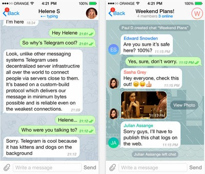Telegram Messenger gratis en tu iPhone