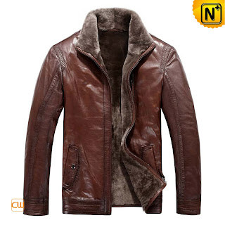 Brown Sheepskin Jacket for Men