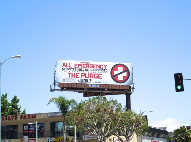 Purge film billboard