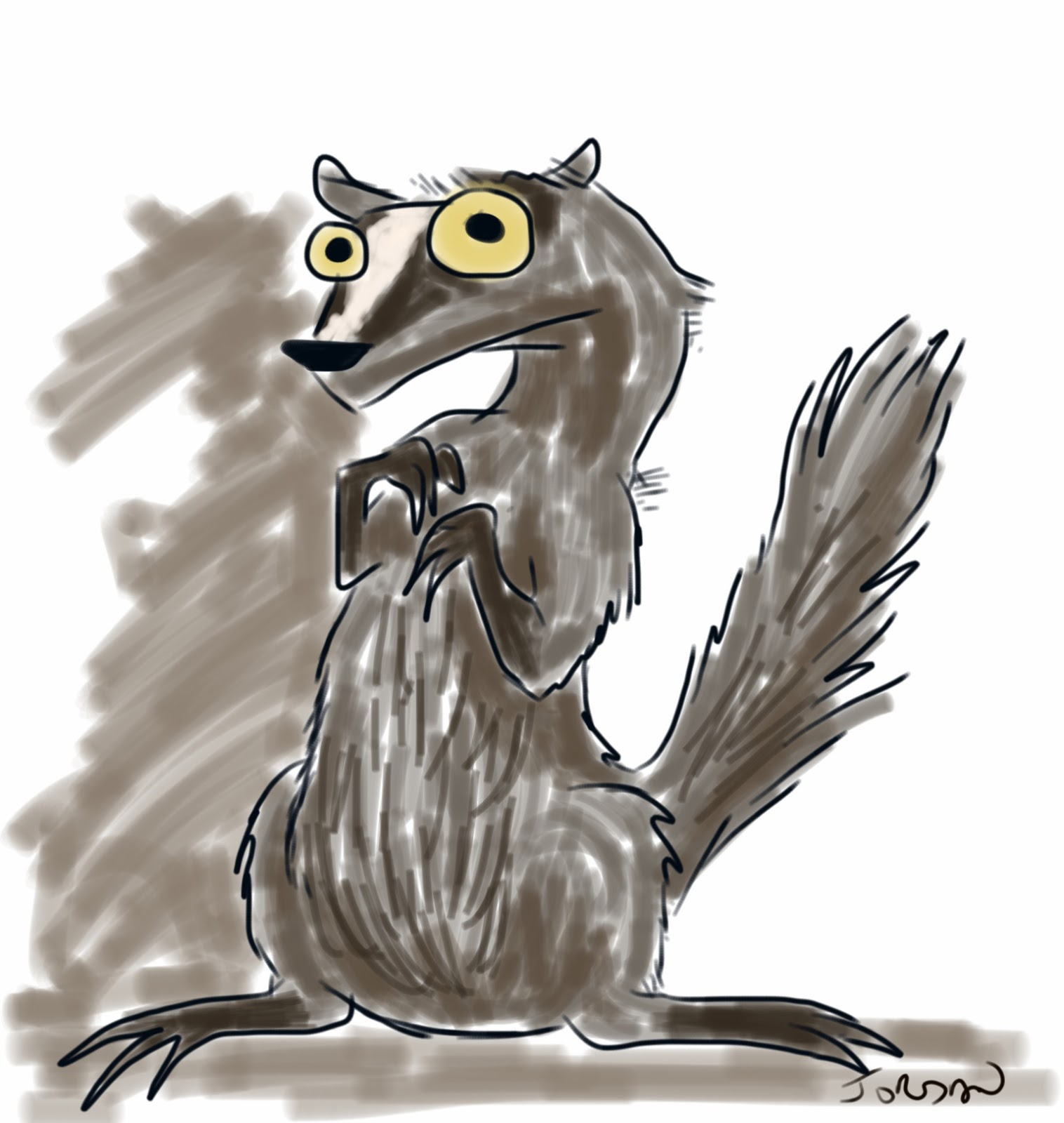 Drawing of a badger. GIRL, CRAFTED blog