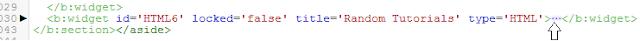Widget Ramdom Post on template (HTML6)