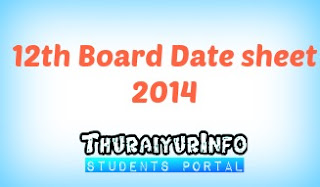 CG Board 12th Time Table 2014