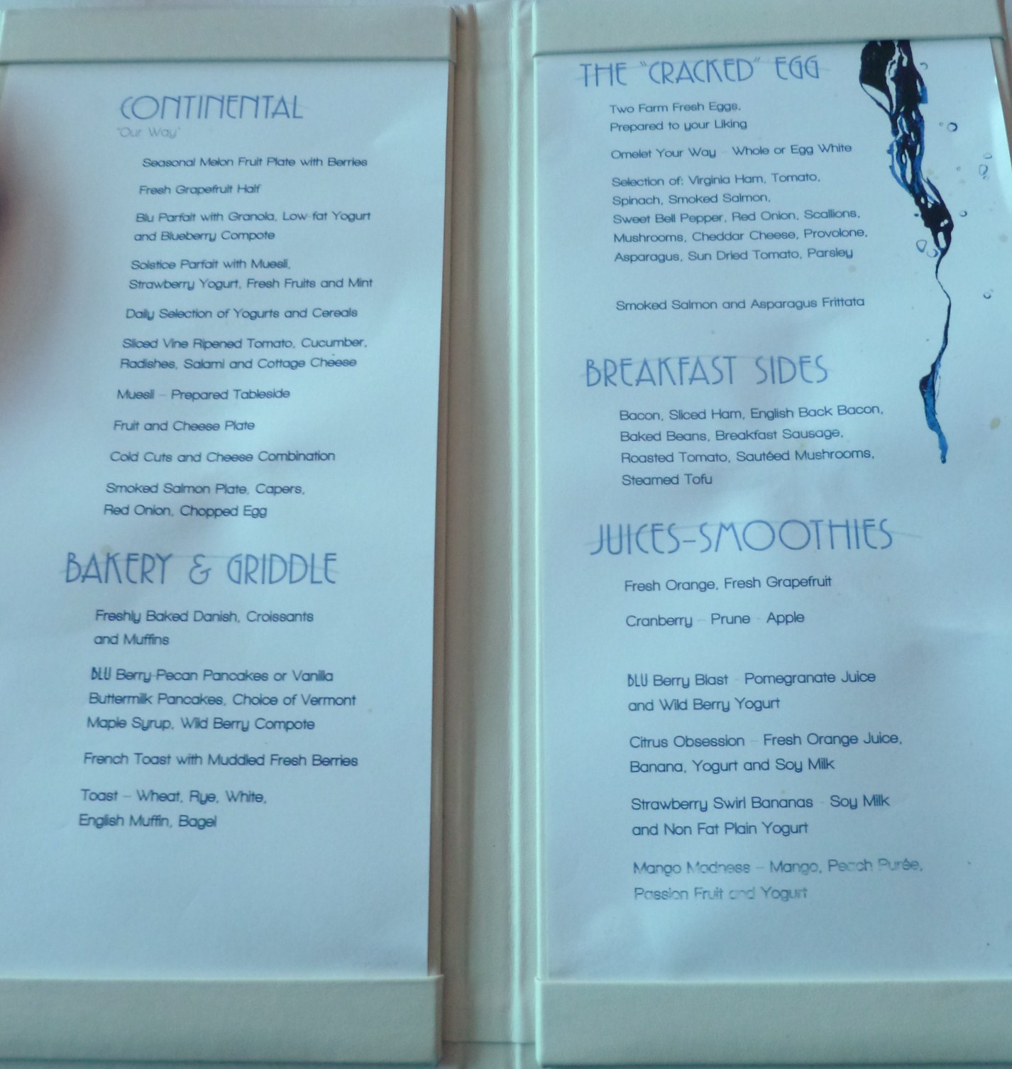 Blu - Breakfast Menu ? - Celebrity Cruises - Cruise Critic ...