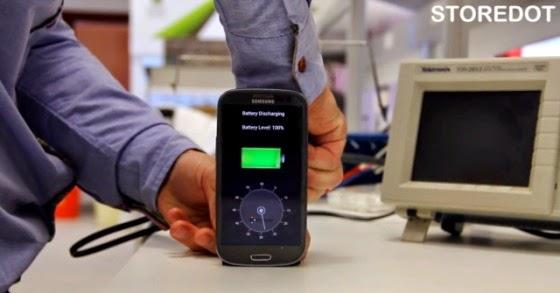 Tecnologia que carrega Smartphone em 30 segundos