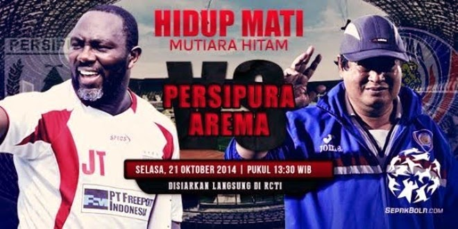 Hasil Skor Akhir: PERSIPURA vs AREMA INDONESIA 8 Besar ISL (Selasa, 21 Oktober 2014)