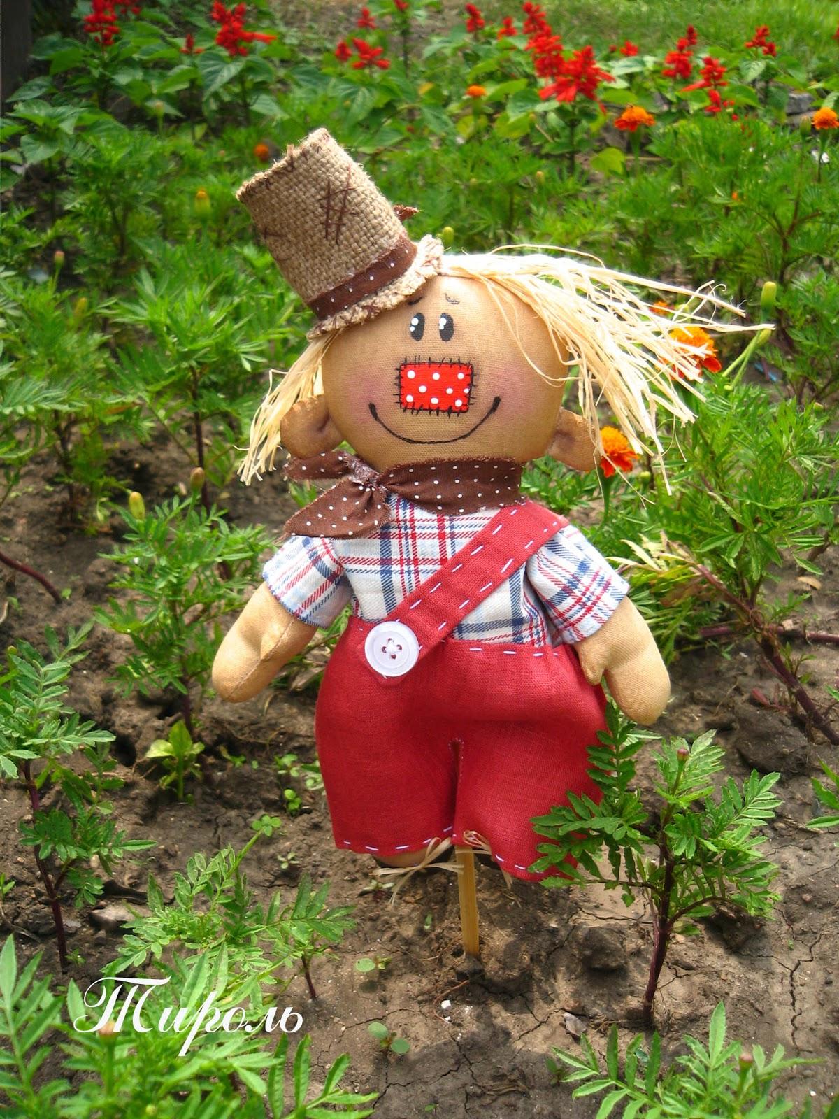 Как сделать голову пугало на огороде