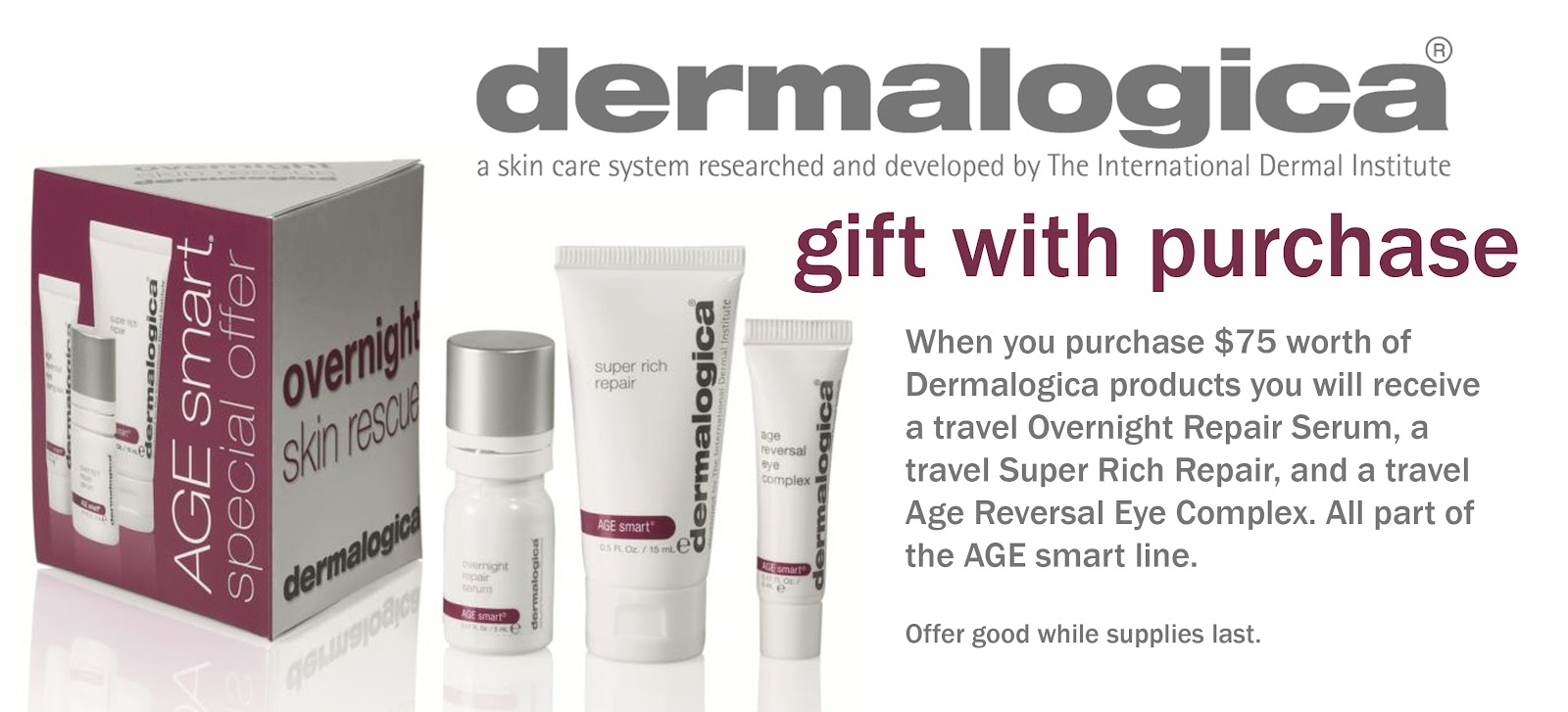 Dermalogica Free Gift with $99+ Purchase Dermalogica Daily Superfoliant oz & Dermalogica mediBac Oil Free Matte SPF oz Dermalogica AGE Smart Daily Superfoliant: This highly-active resurfacer delivers your smoothest skin ever, and helps fight the biochemical and environmental triggers known to accelerate skin aging.4/5(3).