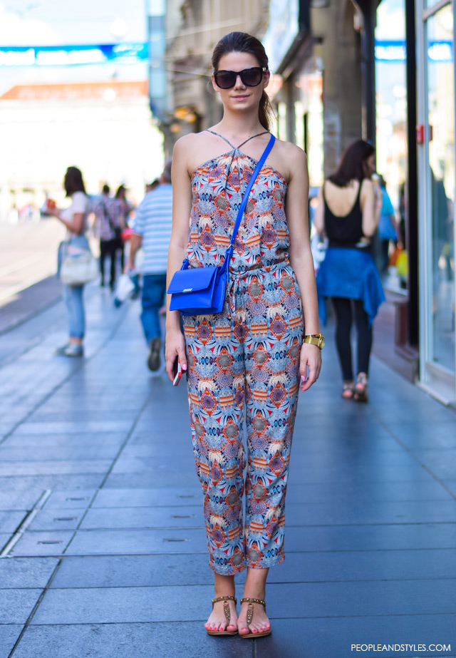 Zagreb street style 2015, How to wear jumpsuite and thong sandals, street style summer outfit inspiration, Branka Kosović