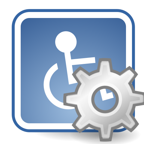 Wheelchair and settings symbols