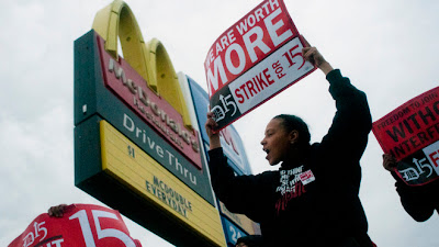 McDonald's Employees Protest For Higher Wages