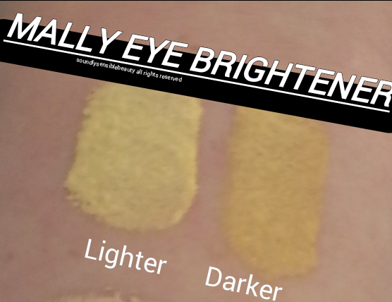 Mally Under-Eye Brightener; Review & Swatches of Shades Lighter, Deeper