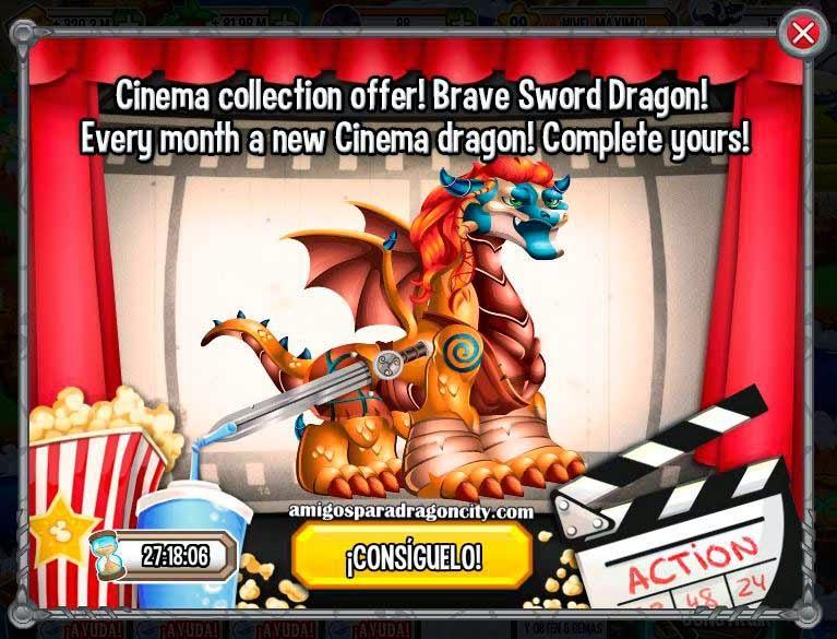 imagen de la oferta especial del dragon espada de valor de dragon city